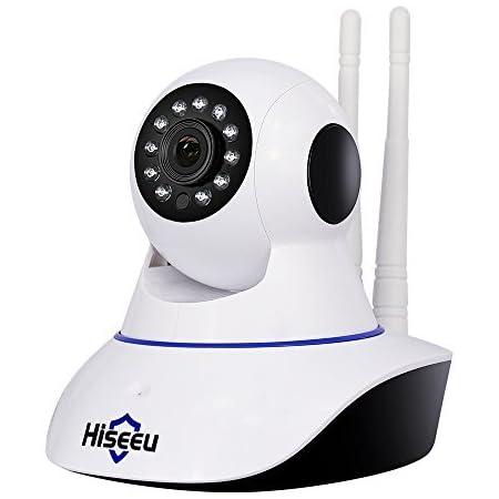 【フルアップグレード 】 ネットワークカメラ IPカメラ Hiseeu 1080P (暗視撮影 )(双方向音声)(動体検知)家庭監視ベビー/ペット/高齢者見守りWiFi 屋内ワイヤレス防犯カメラ