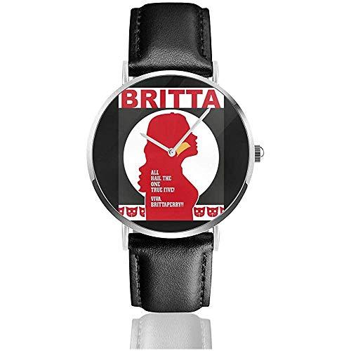 Orologio unisex business casual comunità Britta orologi al quarzo in pelle