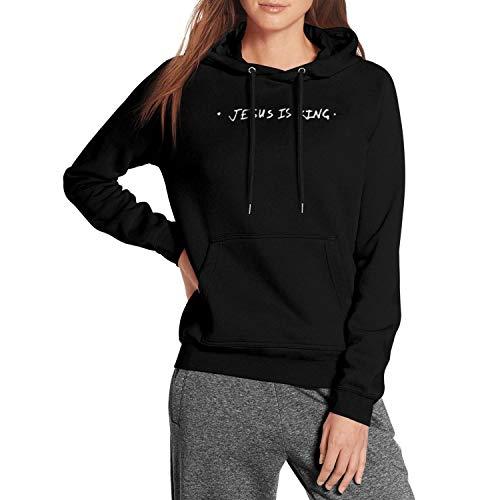 Long Sleeve Jesus-is-King-Kanye-west- Womens Pullover Hoodie Sweater