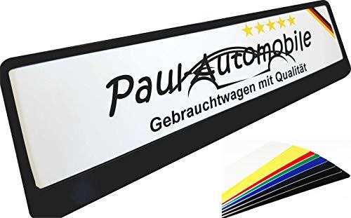 TEILE-24.EU Malinowski KFZ Kennzeichen Bedruckt mit Wunschtext Verkaufsschilder aus Aluminium Miniletter