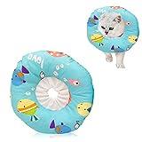 N/F LxwSin Collar Protector para Mascotas, Collar Protector de Gato, Ajustable Collar Suave Curativo Elizabeth para Mascota Después de la Cirugía, Gatito Cachorro Conejo Anti-Mordida Lamer Herida, S