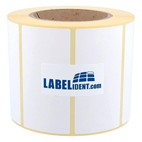 Labelident Thermotransfer-Etiketten 102 x 51 mm, formatgleich mit Zebra Z-Select 2000T, 880134-050 - 2740 Papier-Etiketten auf 3 Zoll Rolle für Standard- und Industriedrucker, selbstklebend