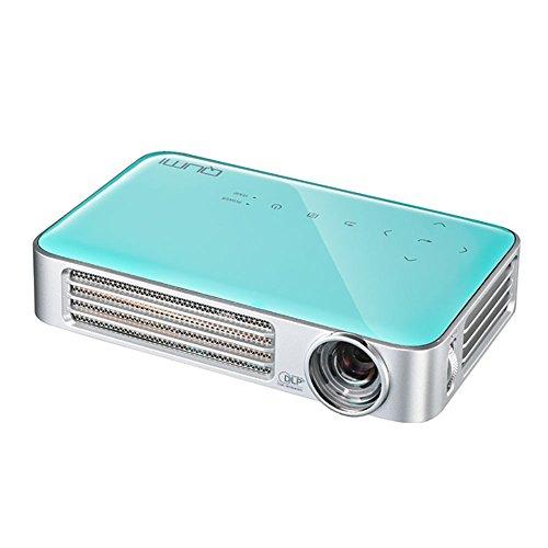 vivitek Qumi Q6, kompakter LED-Projektor im Taschenformat, 800 Lumen, Wireless, 1280x800 Pixel, Beamer mit 2.5GB interner Speicher, HDMI und USB Eingang, türkis