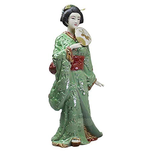 Decoracion de Escritorio Cerámica Antigua Japón Kimono Lad