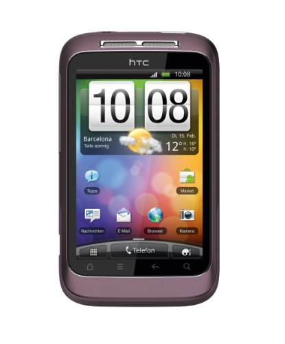 HTC Wildfire S Smartphone 8,13cm (3,2 Zoll) WVGA Touchscreen, Android OS, 5.0 Megapixel Kamera) purple