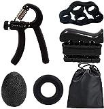 H.maker Manopole Mani, Hand Grip Kit di Allenamento 5 in 1 Regolabile, 5-60kg Pinza Mano c...