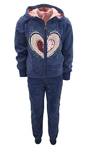 Girls Fashion MF28e - Conjunto de chándal para niña (chaqueta y pantalón...