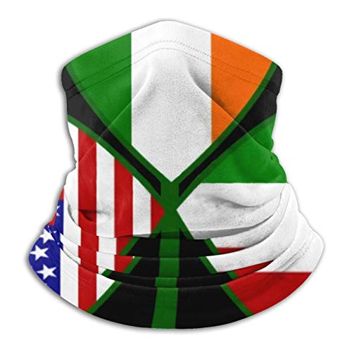 GKAOSPLSR Calentador de cuello de microfibra reutilizable para hombres y mujeres, resistente al viento, transpirable, bandana para correr, ciclismo al aire libre, trébol americano irlandés