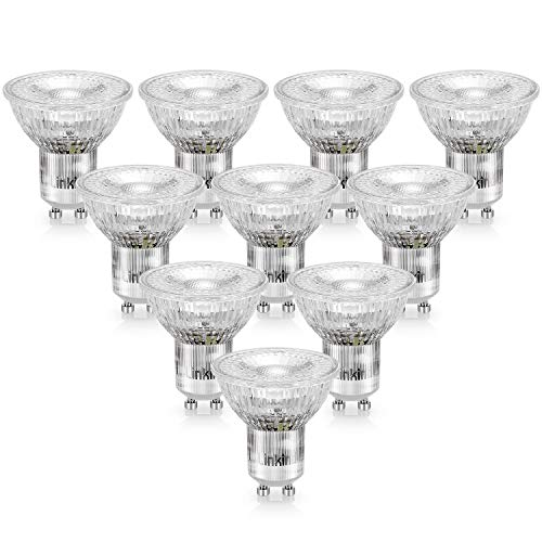 Linkind LED GU10 Lampe, 30W 35W Halogenlampe ersetzt, 2.5W Warmweiß Spotbalken Birne, 36° Abstrahlwinkel Spotlight, AC 220-240V MR16 LED Glühbirne, 10er Pack
