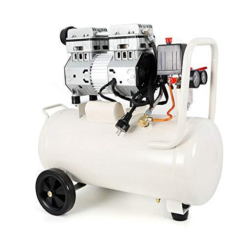 Anciun Flüsterkompressor Druckluft Kompressor Silent Ölfrei Kompressor 35L Druckbehälter, 53dB, 7 bar, Öl-/Wasserabscheider