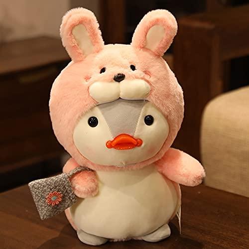 Nuevo Juguete de pingüino Vestido de Felpa de la Vida Real, muñeca Creativa de Conejo/Oso/cocodrilo, Juguetes para niños, Regalos Kawaii 35cm 3