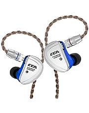 CCA C16 イヤモニ型 イヤホン 3Dステレオサウンド Hi-Fi高音質 イヤホン 片側 高精度のバランスド・アーマチュアドライバー8基を搭載 カナル型 イヤホン 高遮音性 音源と相性がよく リケーブル 可能【合金フェイスプレート搭載、ハイレゾに対応上位機種】