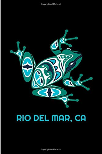 Rio Del Mar, CA: California Frog Pacific NW Native American Indian Gift Medium Ruled Lined Notebook - 120 Pages 6x9 Composition