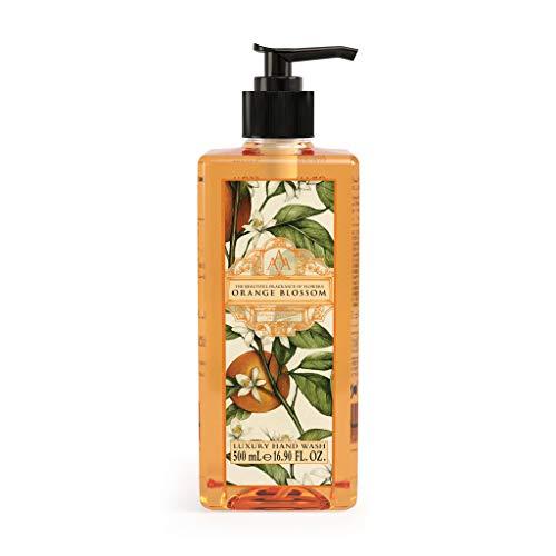 Aromas Artesanales De Antigua Floral Luxury Orange blossom Hand Wash - 500ml | Luxury Hand Wash to Help Banish Day-To-Day Stress | Hand Soap, Skin Care, Hand Wash