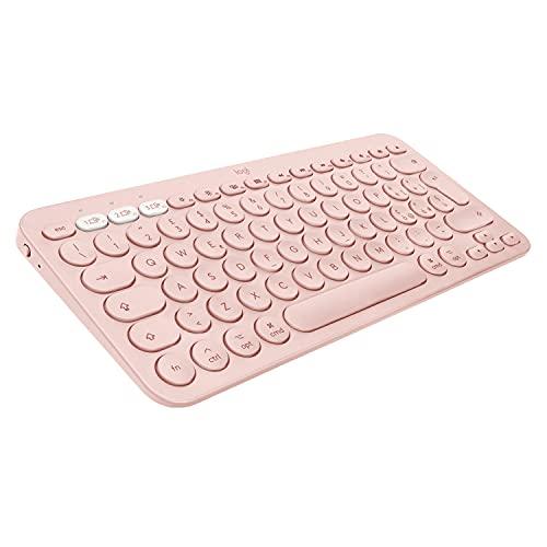 Logitech K380 Tastiera Bluetooth Multidispositivo per Mac, Sottile e Compatta, Easy-Switch fino a 3 Dispositivi, macOS / iOS / iPadOS, Layout Italiano QWERTY, Rosa