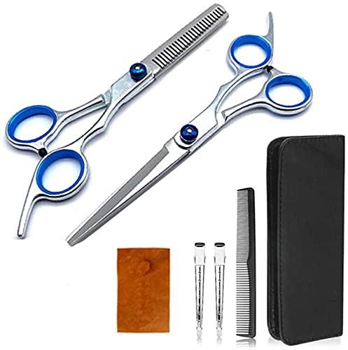 ZHENWEN Kit de 7 Piezas de Tijeras Pelo para el hogar, salón, Tijeras peluquería 6 Pulgadas para Cortar el Pelo, Tijeras de peluquería Profesionales para salón, Herramientas para Cortar el Pelo