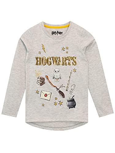 HARRY POTTER Camiseta de Manga Larga para niñas Hogwarts 7