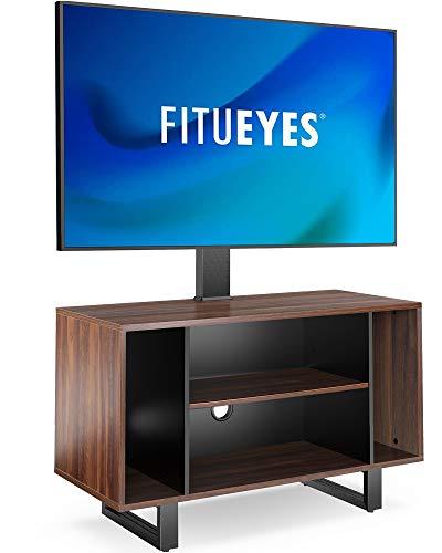 FITUEYES Meuble TV avec Support TV pour 32'' – 55'', Hauteur Réglable et Angle Adjustable ±20° VESA max. 400 x 400 mm Fait en Métal et MDF, Capacité de Charge 45KG