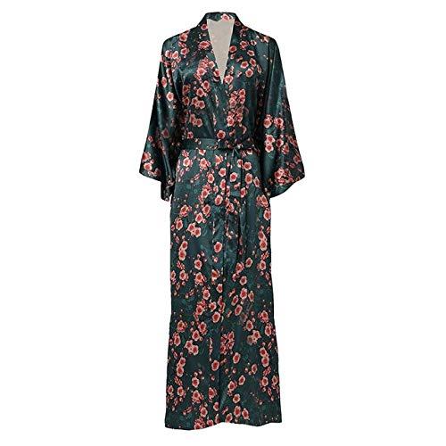 Handaxian Abito da Kimono Casual di Grandi Dimensioni Pigiama da Donna Accappatoio New Robe Satin Home Service Underwear