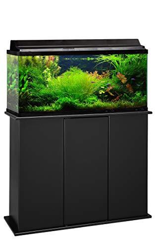 Aquatic Fundamentals AMZ-36301-01, 30-48 Gallon Aquarium Stand with Storage, Black Finish