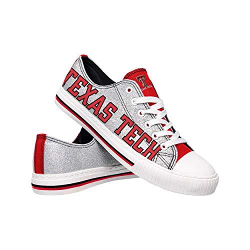 NCAA Texas Tech Red Raiders Damen Glitzer Low Top Canvas Schuhe Glitter Low Top Canvas Schuhe Team Farbe 10/XXL