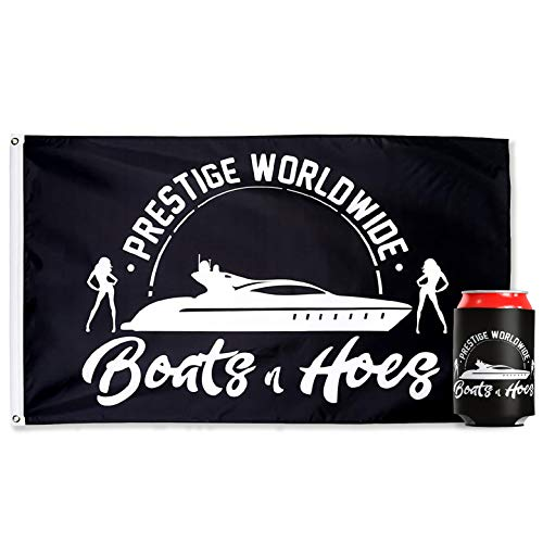 bA1 Outdoor Prestige Worldwide Flag (Authentic) + Free Coozie - Cool Funny Banner for College Dorm Room + Man Cave Poster - 3x5 FT