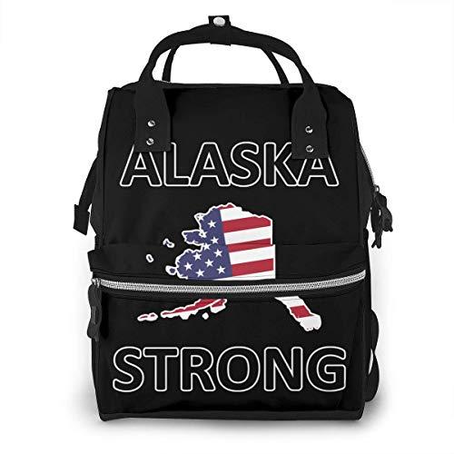 GXGZ Alaska Strong Pañal Mochila Viaje Bebé Pañal Bolsa Multifunción Bolsa de pañales