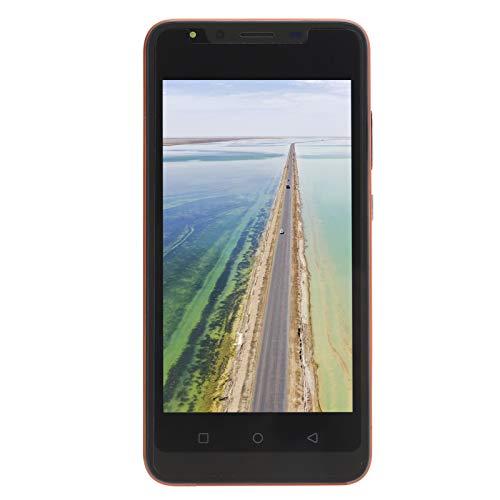 FOLOSAFENAR 5,0 Pulgada HD Pantalla Teléfono Inteligente Largo Batería La Vida Escabroso Teléfono Inteligente con Aplicación Cara Reconocimiento y Huella Dactilar Desbloqueo por Android 6.1(Naranja)