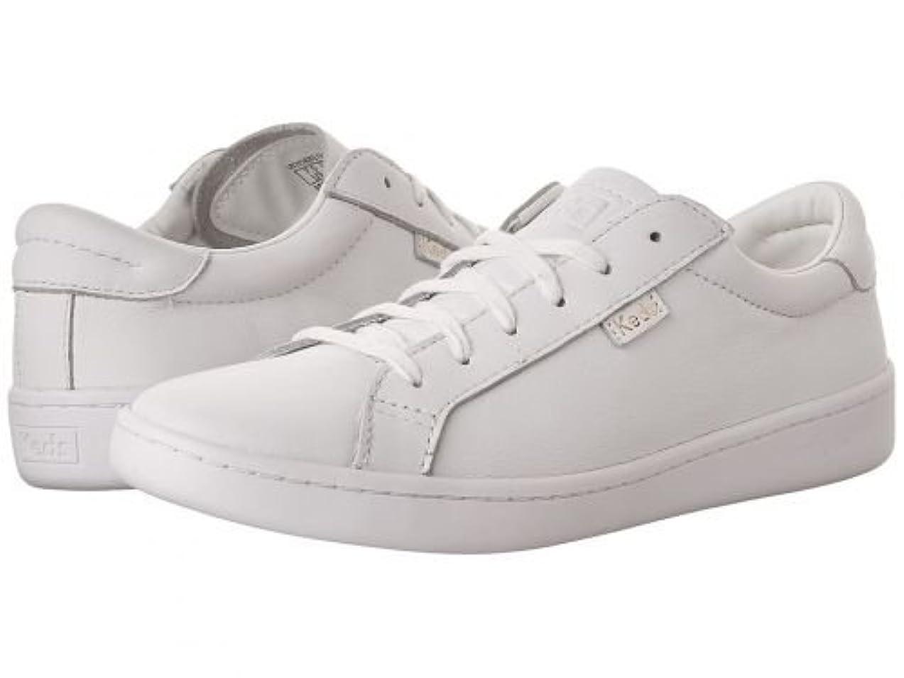 防水フィットネス二度Keds(ケッズ) レディース 女性用 シューズ 靴 スニーカー 運動靴 Ace Leather - White/White [並行輸入品]