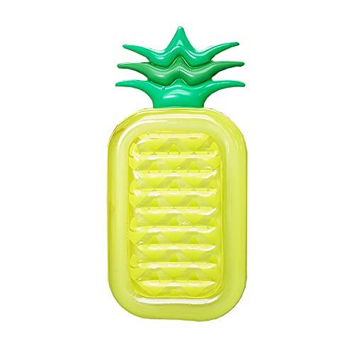 LANZHI Uppblåsbar flytande rad ananas form utomhus vuxna sommar pool leksak vattenspel flytande säng för feststrand, 180 x 90 x 20 cm