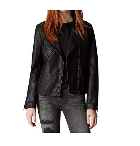 [BLANKNYC] womens Moto Jacket, Onyx, Medium US