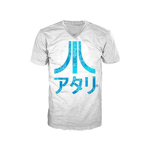 ATARI - T-Shirt White - Japanese Logo Mens (M)