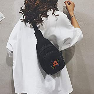 Fashion Single-Shoulder Bags Fashion Oxford Cloth Single Shoulder Bag Chest Bag Messenger Bag (Color : Black, Size : OneSize)
