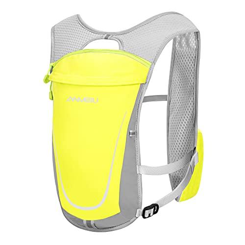 5L Zaino da Ciclismo Leggero Traspirante Multi Tasche con Scomparto per Sacca d'Acqua da 2L Pacchetto Gilet di Idratazione All'aperto Regolabile per la Maratona Corsa Escursionismo