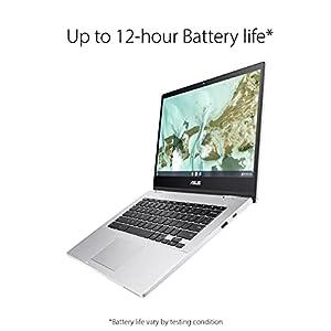 "ASUS Chromebook CX1, 14"" Full HD NanoEdge Display, Intel Celeron N3350 Processor, 64GB eMMC, 4GB RAM, Spill-Resistant Keyboard, Chrome OS, Transparent Silver, CX1400CNA-AS44FV"