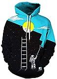BarbedRose Men's Digital Print Sweatshirts Hooded Top Galaxy Pattern...