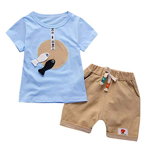 Ensembles de Bébé KidsRobemon Toddler Bébé Kids Garçons Cartoon T Shirt Tops Pantalons Trousers Shorts Outfits