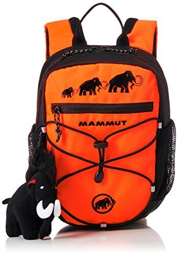 Mammut Kinder First Zip Rucksack, Safety orange-Black, 4 L