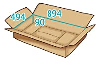 In The Box ダンボール 段ボール「衣類用J5(894×494×高さ90mm) 10枚」茶色