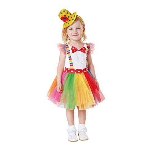 My Other Me Me-203198 Disfraz de payasita Tutu para niña, 1-2 años (Viving Costumes 203198)