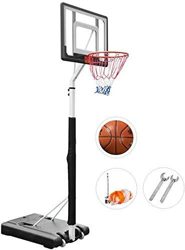 JNY Basket Stand Portable Canestro da Pallacanestro for i Bambini, Adulti, Ragazzi, Interni Esterni Regolabile in Altezza 6.9'-8.5', Scaffale con Coperchio di Protezione Basket Stand sollevabile