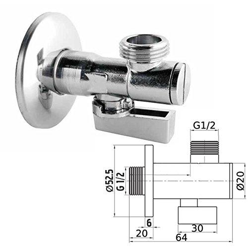 Eckventil mit Filter / Sieb Auslaufventil Anschlussventil 1/2x1/2 Zoll Wasserhahn Armaturen