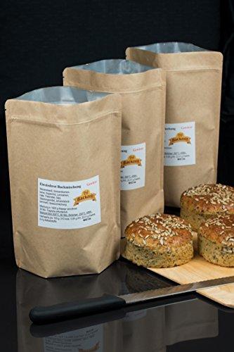 Eiweissbrot Backmischung gewürzt - frisch abgefüllt - Diabetikerbrot - ohne Weizen und Roggenmehl - hergestellt in Deutschland