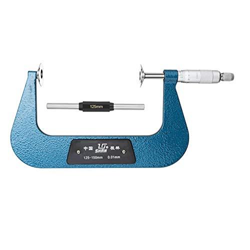 HXF Micrómetro de línea de Derecho público 125-150mm / 0.01mm Micrómetro de Espiral de la Cabeza de la Cabeza de la medición del Papel Instrumento