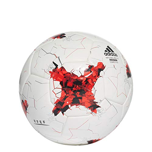 adidas Fef Competition Fußball Spielball, White/Red/Powred/Cleg, 5
