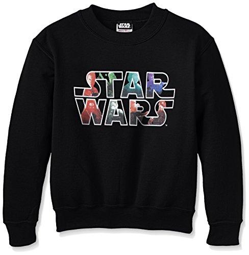 Star Wars VII El Despertar de la Fuerza Heroes and Villains Logo Sudadera, Negro, S para Niños