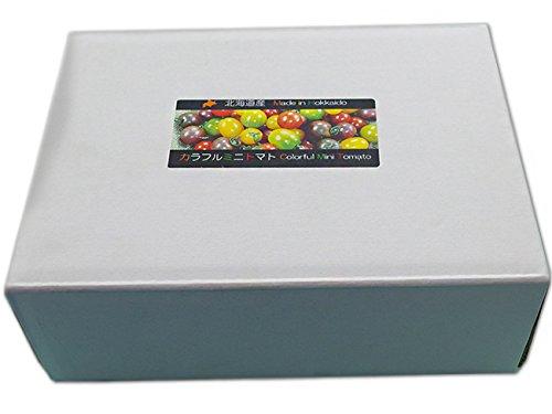 北海道産カラフルミニトマト 1kg (トマトの宝石箱) 甘いとまと 北海道の美味しくレアなトマトの詰合せ ギフトに最適 ミニトマトのセット (TOMATO JEWELRY BOX)
