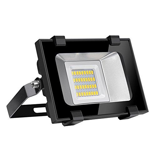 Viugreum 20W Focos LED Exterior Proyector Impermeable IP65 Iluminación de Exterior para Patios, Caminos, Escaleras, Jardines, Fábricas, Muelles, Estadios - Blanco Cálido