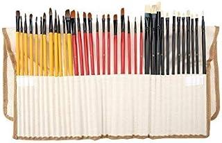 36Pcs Paint Brush Different Size Aluminium Alloy Tube Wood Handle Brush Nylon Hair Oil Painting Brushes Set for Watercolor...