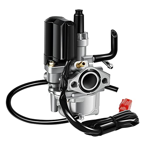 Wilktop 17mm Carburador, Scooter Carburador Motocicleta Carburador con Conector E-choke 2-polos